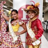Mariana de los Ángeles Gil y Daniel Josué Fernández, reyecitos del Carnaval de la 44.