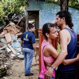 Yoledis Fernández lamenta la demolición de los restos de su casa junto a su pareja, Jorge
