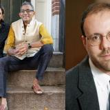 Abhijit Banerjee y Esther Duflo ganadores del Premio Nobel de Economía 2019 en su casa en Boston, Massachusetts y Michael Kremer.