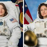 Christina Koch y Jessica Meir, las astronautas estadounidenses.