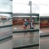 En video   Peleas de pandillas y arroyos crecidos tras la lluvia de este martes