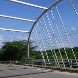 Vista del puente José Name Terán, ubicado sobre el arroyo León, en el municipio de Puerto Colombia.