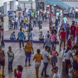 Largas filas en los puestos de votación en Soledad