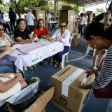Puesto de votación ubicado en el colegio La Enseñanza de Barranquilla.