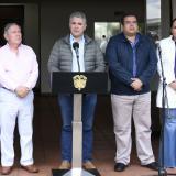 El Presidente Duque durante sesión de trabajo de este lunes, en Popayán.