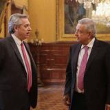 Alberto Fenández junto a Andrés Manuel López Obrador.