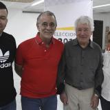 Edgardo Mendoza, el gobernador Eduardo Verano, Luis Camilo Osorio e Iriana Aponte.