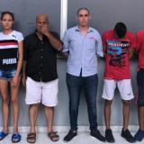 Los capturados a su llegada a la URI.
