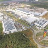 Vista superior de la planta de Tecnoglass en el sector entre la vía 40 y la Circunvalar en Barranquilla.