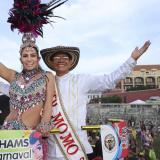 Los reyes del Carnaval de Barranquilla 2020, Isabella Chams, y Alcides Romero, en Cartagena.
