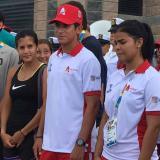 Los deportistas José Bendeck, María Paulina Pérez, Nelson Soto y Shanee Torres, en el acto de este viernes.