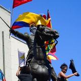 El Paseo Bolívar fue testigo de un Libertador encapuchado
