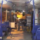 Bus de Transmetro atacado.