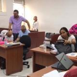 Aspectos de la audiencia que se celebró el pasado domingo en el centro de servicios de Barranquilla.
