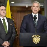 Magistrado Álvaro García, presidente de la Corte Suprema, e Iván Duque, presidente de Colombia, durante la presentación de la terna.
