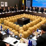 Durante la reunión del Tiar en Bogotá.