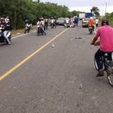 Imagen captada minutos después del accidente.