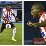 Víctor Cantillo y Germán Mera, jugadores del Junior de Barranquilla.