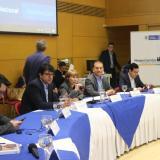 Reunión de la mesa de concertación salarial realizada este viernes, presidida por la ministra de Trabajo, Alicia Arango.