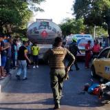 Tres vehículos, un muerto: fatal accidente de tránsito en Simón Bolívar