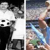 Escobar y Maradona.