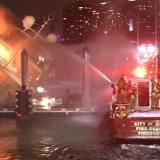 Lujoso yate de Marc Anthony se incendia en Miami