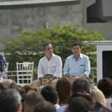 El gobernador del Atlántico, Eduardo Verano De la Rosa, durante su discurso en la inauguración del nuevo puente Pumarejo.