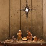 Banksy presenta en Belén un nacimiento entre muros