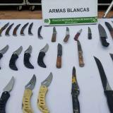 Armas blancas que podrían ser penalizadas.
