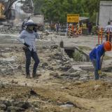 Cierre de vías por trabajos en sectores de la ciudad