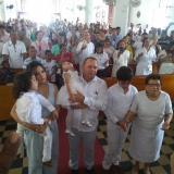 El alcalde José de Jesús Chadid Anachury junto a su esposa Katerine Urzola Romero y sus hijos Josué, José Elías y María Fátima,