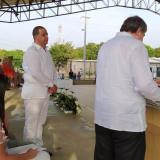 Roberto Celedón durante su acto de posesión