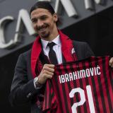 Zlatan Ibrahimovic en su regreso al AC Milan.