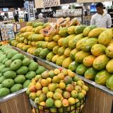Frutas en un supermercado de Barranquilla.