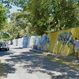 Panorama de la carrera 68, en la que muchos visitantes parquean para visitar el zoológico de Barranquilla, generalmente, los fines de semana.