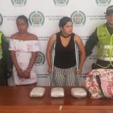 Las dos mujeres capturadas con marihuana en Las Cayenas.