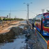 Aspecto de las obras de ampliación de la calle 30, a la altura de la carrera 21.