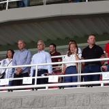 Alexis Mendoza junto al DT de Chile, Reinaldo Rueda, y Giovanni Hernández, observando el duelo entre Colombia y Argentina