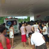 Los lesionados por el estallido de la granada fueron trasladados a centros médicos cercanos.