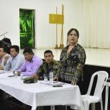 Aspecto de la reunión efectuada en el colegio Itida.
