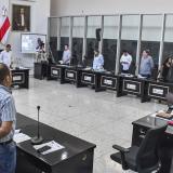 Aspecto de la sesión de control de debate realizada contra Ulahy Beltrán en la Asamblea del Atlántico.