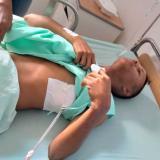 Kelvin Pacheco Colina, de 19 años, tuvo que ser intervenido por las heridas.