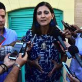 Ángela María Orozco, ministra de Transporte, en declaraciones a la prensa.
