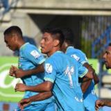 Jaguares celebrando el gol del empate de Romero.