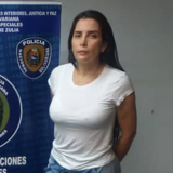 Aida Merlano, tras ser capturada el pasado lunes en Maracaibo, Venezuela.