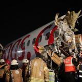 En video | Accidente de avión en Estambul deja un muerto y 157 heridos
