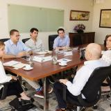 La gobernadora, Elsa Noguera, en reunión con el presidente del Banco Agrario, Francisco Mejía.