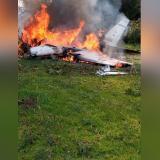 En video |  Cuatro personas muertas en accidente de avioneta en Aeropuerto de Guaymaral