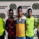 Los tres capturados por la Policía del Atlántico.