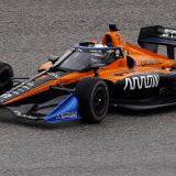 Un monoplaza de la escudería McLaren en acción.